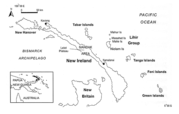 PNG map