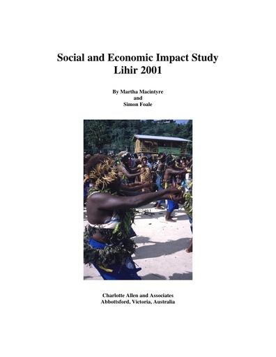 Lihir Social & Economic Impact Study: McIntyre & Foale 2001