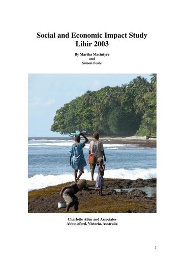Lihir Social & Economic Impact Study Lihir 2003: Macintyre & Foale