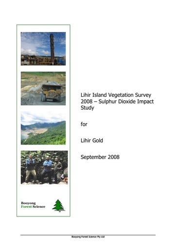 Vegetation survey so2 impact