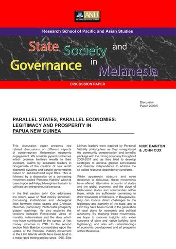 Bainton & Cox Parallel State, Parallel Economies 1