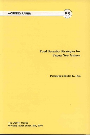 Food Security Strategies for PNG 2001