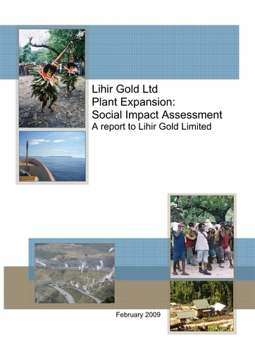 Lihir Plant Expansion: Social Impact Assessment