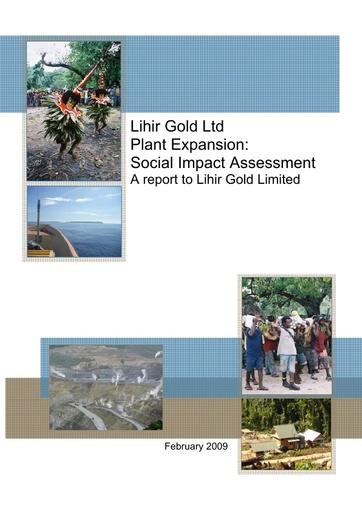 Lihir Plant Expansion: Social Impact Assessment